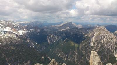 Blick vom Dürrenstein - Pragser Dolomiten, Italien