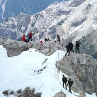 Wandern im Hochgebirge Dolomiten