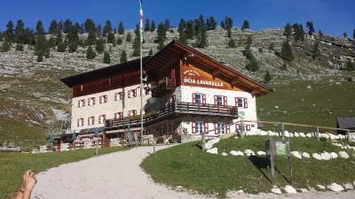 zweite Übernachtung Lavarella Hütte